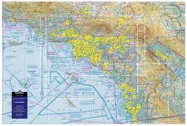 Socal Sectional Chart Aeronautical Raised Relief Map Of Los Angeles California