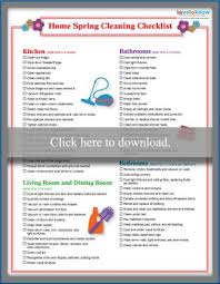 Printable Spring Cleaning Checklist Lovetoknow