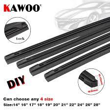 Us 7 35 29 Off Kawoo Auto Vehicle Insert Rubber Strip Car Wiper Blade Refill 8mm 14