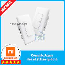 Công tắc Xiaomi Aqara Chữ nhật chuẩn US - nút bấm cơ, phiên bản quốc tế,  chính hãng, bảo hành 12 tháng. chính hãng 690,000đ