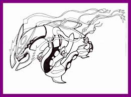 The Best Legendary Pokemon Coloring Pages Rayquaza Printable For To