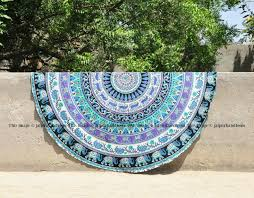 cool beach towels. Elephant Round Beach Towels College Room Cool Tapestries Throw-Jaipur Handloom