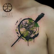 Resultado De Imagen Para Trees Watercolor Tattoo Tetování