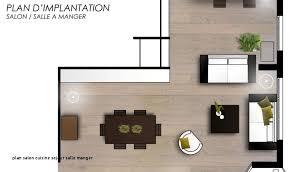 Plan Salon Cuisine Sejour Salle Manger Design De Maison
