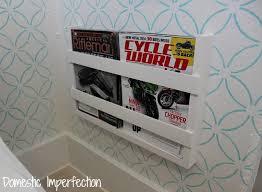 Bathtub Magazine Holder Inspiration 32 BuiltIn Magazine Rack Domestic Imperfection