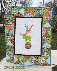 93 best Childrens quilts images on Pinterest | Quilt blocks, Quilt ... & Circus Stack PDF Quilt Pattern elephant giraffe by QuiltStory Adamdwight.com
