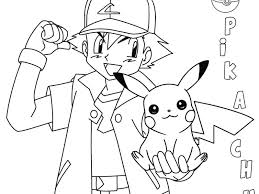 ash and pikachu coloring pages coloring pages pokemon ash and pikachu coloring pages