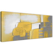 panoramic mustard yellow grey painting bedroom canvas pictures accessories abstract 1419 120cm print display gallery item 1  on grey and mustard yellow wall art with mustard yellow grey painting bedroom canvas wall art accessories