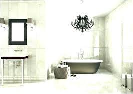 chandelier over bathtub above tub bathtubs hanging black the brown color very houzz chandelier over bathtub