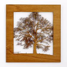 wooden tree scene light rosewood on wall art wooden tree with wooden tree wall art by for me for you designs