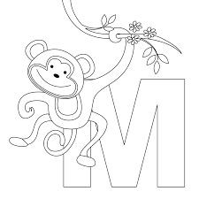 Free Printable Alphabet Coloring Pages A Z With Animal Letter M For