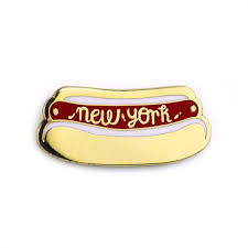 <b>New</b> York <b>Hot</b> Dog <b>Enamel</b> Pin – Badge Bomb Shop
