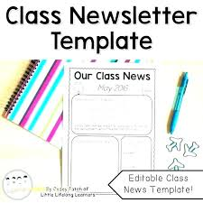 School Newsletter Template For Word Free Elementary School Newsletter Templates Word For Teachers