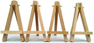 mini wooden 5 artist easel for artwork display table settings set craft art