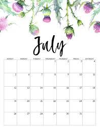 Calendar July 2020 Printable 2020 Free Printable Calendar Floral Paper Trail Design