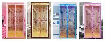 classy design magnetic door curtain ice silk hand free screen net mesh fly mosquito
