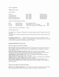 Sample Resume For Assistant Professor Position Inspirational