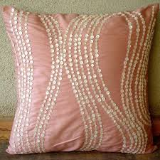 pink throw pillows silk pillow cover