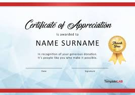 free recognition certificates 30 free certificate of appreciation templates and letters
