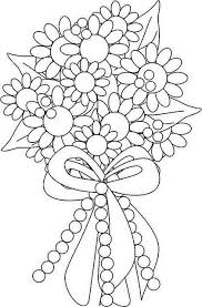 Flower Bouquet Coloring Page Mosaicos 1 Patrones Wedding