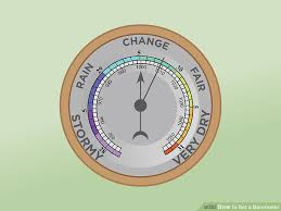 Barometer Chart How To Set A Barometer 12 Steps With Pictures Wikihow