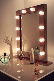 Graceful Makeup Mirror For And Lights Together With. Mirror With Bulbs Around  It ...