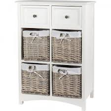 wicker basket cabinet. Interesting Cabinet Wicker Storage Cabinet 2 Drawer 4 Basket For