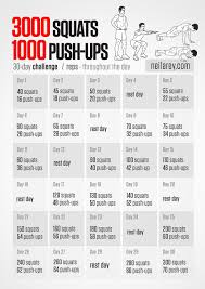 3000 Squats And 1000 Push Ups 30 Day Challenge On Day 19