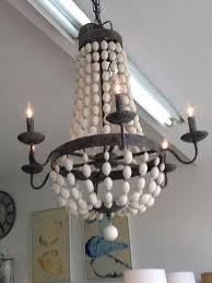 wood bead chandelier 550 00 300 00