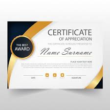 Certificate Of Recognition Template Free Download Elegant Horizontal Certificate Template Vector Free Download