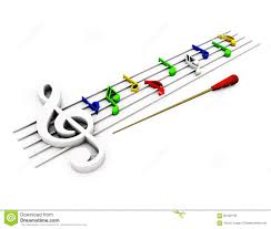 Stave Music Stave Of Music In The 3d Stock Illustration Illustration Of