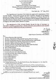 Sh Avinash Chander S Dg Drdo Sa To Rm Secretary Drd