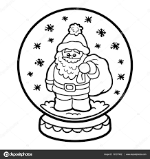 Met De Kerstman Kleurplaat Boek Voor Kinderen Snowball
