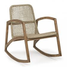 garden rocking chair with structure in