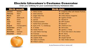 Plan Your Literary Halloween Costume With Our Handy Chart