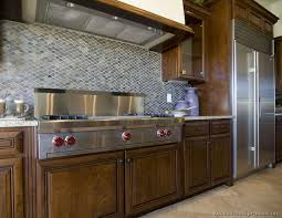 backsplash ideas for kitchen. Idea Of The Day: Deep \u0026 Luxurious, Dark Walnut-Colored Kitchen With Mosaic Tile Backsplash. Backsplash Ideas For P