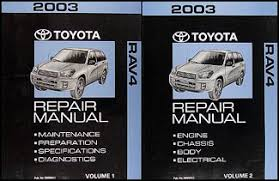 2003 Toyota RAV4 Repair Shop Manual Set Original