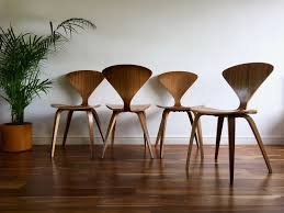 cherner furniture. Mid Century Modern Norman Cherner Side Chairs Walnut The Chair Company Furniture