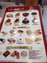 Menu Picture Of Carlos Bake Shop Cake Boss Cafe New York City