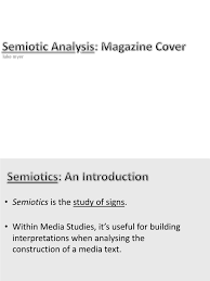 semiotic analysis essay analytical essay introduction analytical  semiotic analysis magazine cover