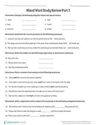 Word Study Worksheet Mixed Word Study Review Part 2 Worksheet Education Com