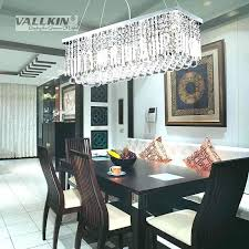 size of chandelier for dining table two sizes modern contemporary