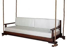 southern komfort bedswings 93 inch hurston porch swing eucalyptus frame w seat and back cushion