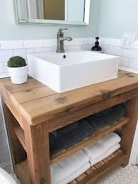 Bathroom Remodel Blog Custom Cedar Wood Bathroom Vanity Guest Bathroom Renovation Before And