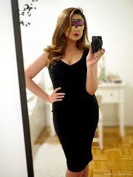 retro black dress masquerade outfit