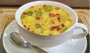 fruit salad with custard. Perfect Custard Custard Fruit Salad With Milk Video Recipe By Bhavna Indian Dessert   YouTube On With