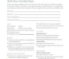Birth Plan Download Free Birth Plan Template Free Birth Plan Template My