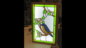 how to design build a stained glass display light box