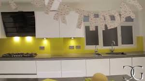 Kitchen Splashbacks Canary Yellow Glass Kitchen Splashback Creoglass Youtube
