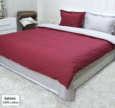 um image for grey and red bedding sets queen single size sateen grey and red duvet
